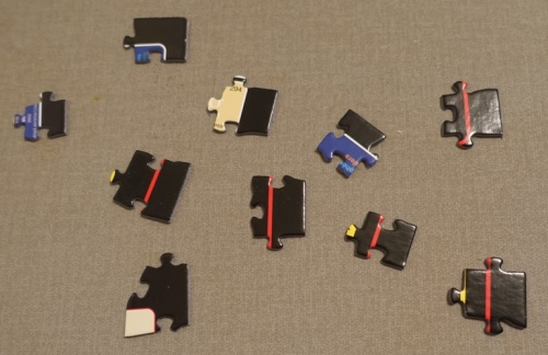 Puzzle edge pieces, First pieces, puzzle pieces