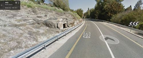 Tombs, Google Maps, Street View, route 6953, Israel