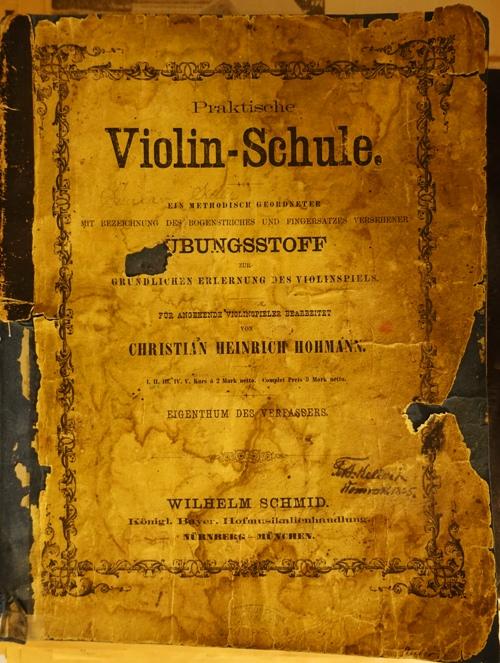 Violin Schule, Christian Heinrich Hohmann, Wilhelm Schmid, Violin Book