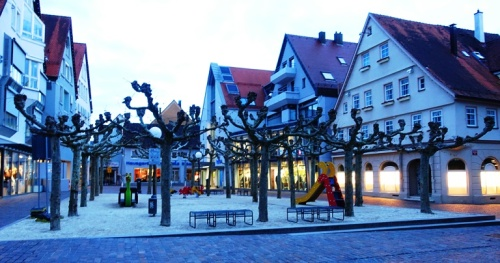 Aalen Germany, Play ground, play park, evening pictures