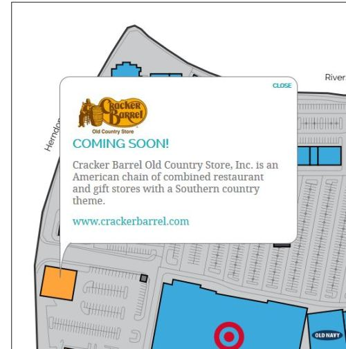 El Paseo Cracker Barrel, Herndon, California, Fresno, Coming Soon