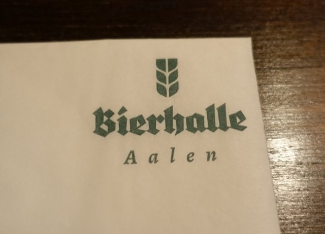 Aalen Germany, Bierhalle, dinner