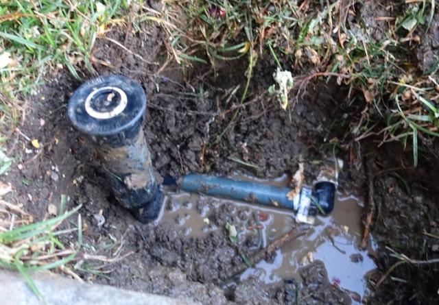Complex Sprinkler piping, Sprinkler Repair, Dirty Work