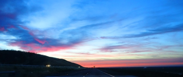 California Sunset, May Sunset, I-5, Central Valley