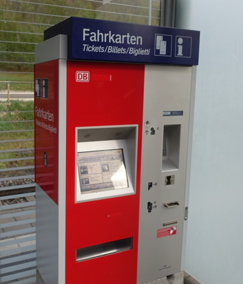Train Station, Ticket Machine, Oberkochen