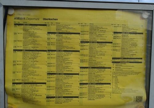 Train Schedule, Oberkochen, Germany, DB, train station