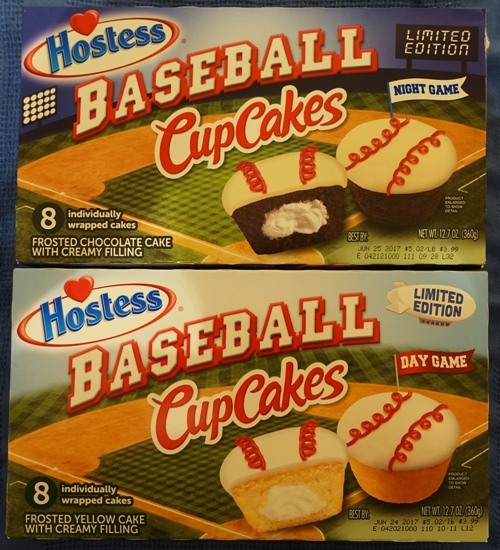 Hostess, Baseball CupCakes, Day Game, Night Game, Chocolate Cake, White Cake