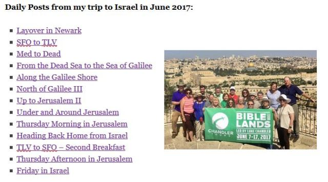 Israel Page, 2017 trip, chandler tours