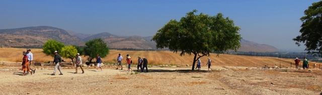 Visiting Hazor, Tel Hazor