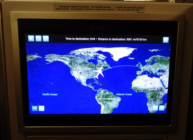 Route Map, Newark to Tel Aviv, United Airlines, 777-300