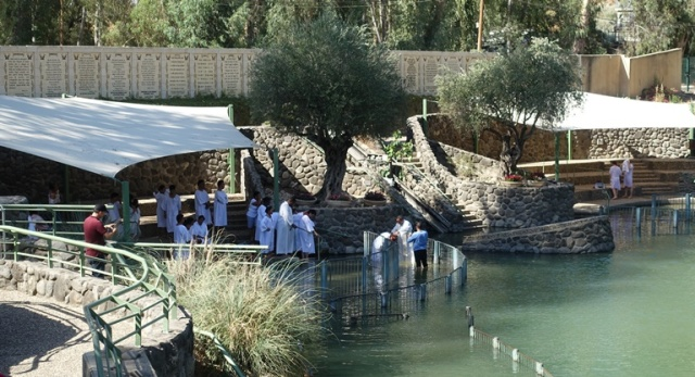 Jordan River, Baptism, Not really here