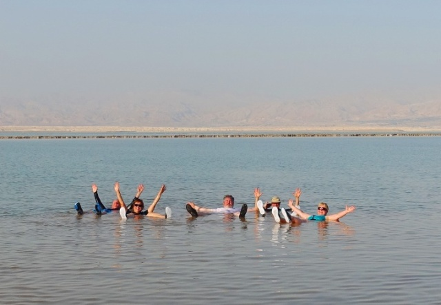 Dead Sea, Floating
