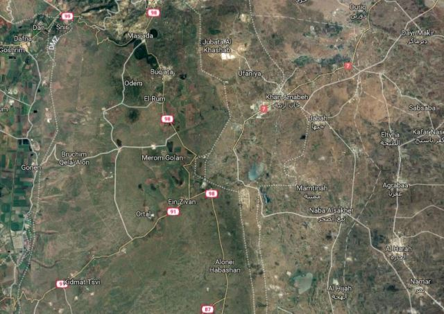 Golan Heights, Google Maps, Israel, Syria