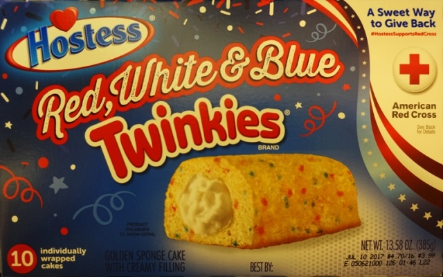 Red, White and Blue Twinkies, Hostess snack cakes, Fourth of July