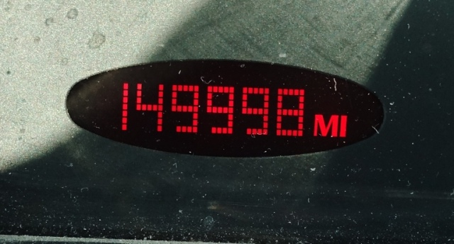 149998, approaching 150k, odometer, Old car