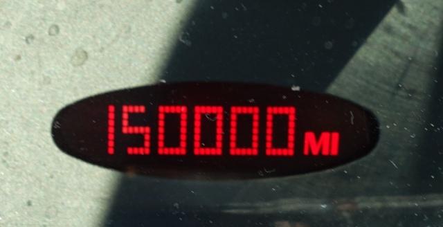 150k miles, old car, odometer, Old Blue, mileage