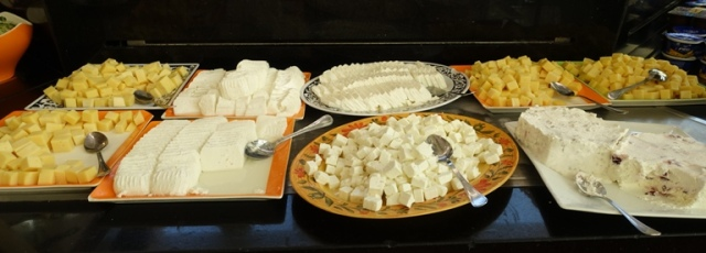 Cheese Buffet, Israel, Dead Sea, Cheese Choices