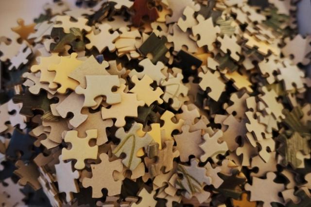 Jigsaw Puzzle, Puzzle pieces, edge pieces