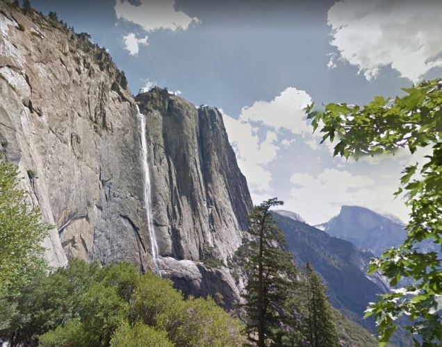 Virtual Hike, Google Maps, Yosemite Valley, Yosemite Falls