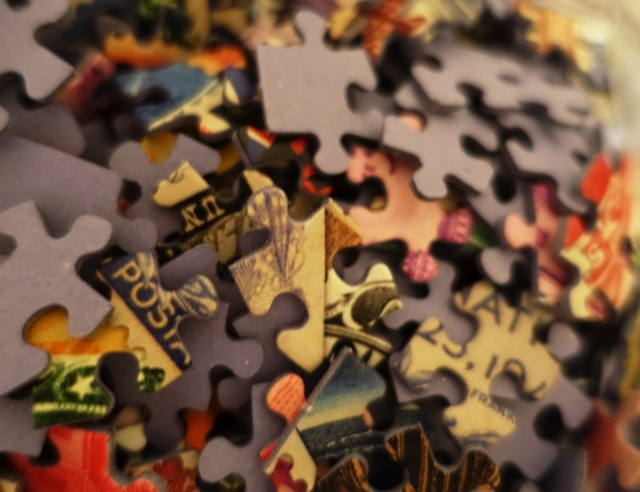 Puzzle Pieces, Smithsonian, Stamp Puzzle