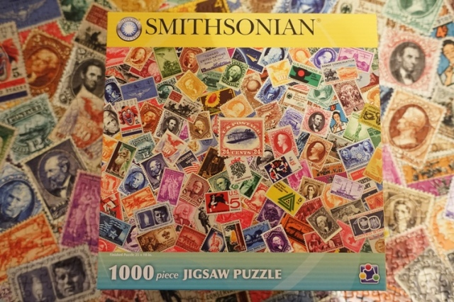 Smithsonian stamp puzzle, stamps, stamp collecting, puzzles