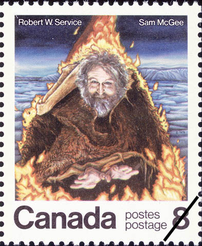 Robert Service Stamp, Canadian Postal Service, Sam McGee