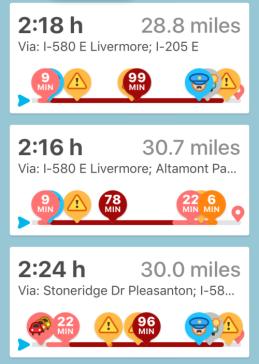 Horrible Commute, Altamont Accidents