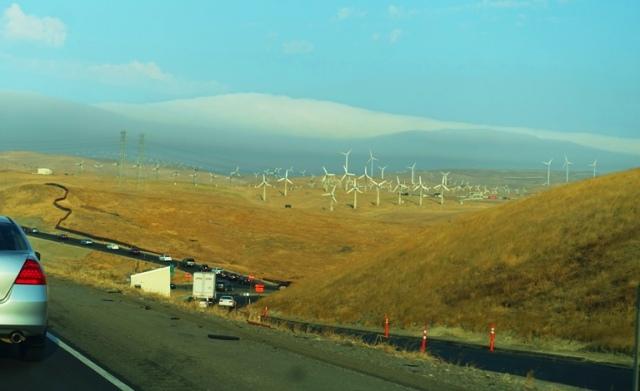 Altamont Hills, Marine Layer, Windmills, Altamont Commute
