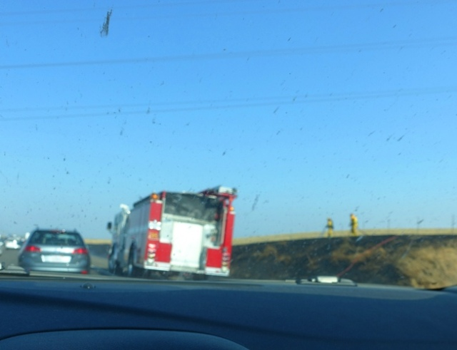 I-205 fire, tracy, commute