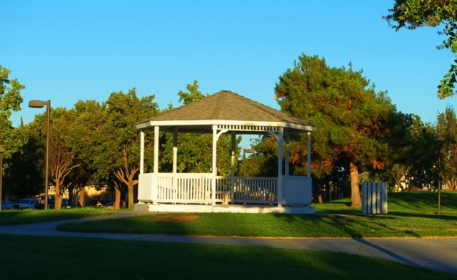 Gazebo in Park, Tracy, California Zanussi Park