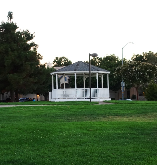 gazebo, zanussi park, tracy, california, parks