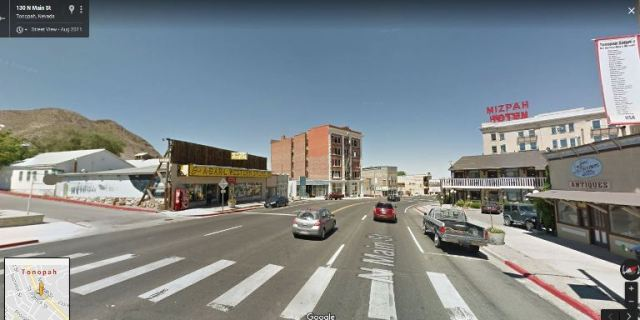 Tonopah Nevada, Google Maps, street View