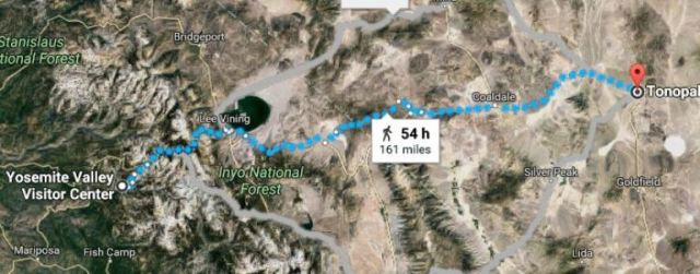 Tonopah, Nevada, Yosemite Valley, Virtual Hike