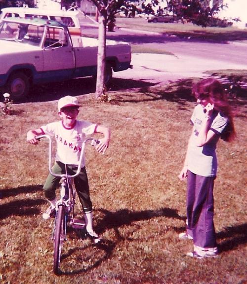 Bike, Schwinn Bicycle, Big Handlebars, Over the handlebars