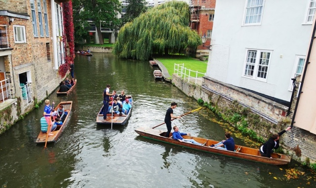 Punting on the Cam, Cambridge, River Cam