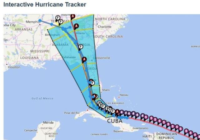 Hurricane Tracks, Irma, Friday Night Forecast, Changing forecast