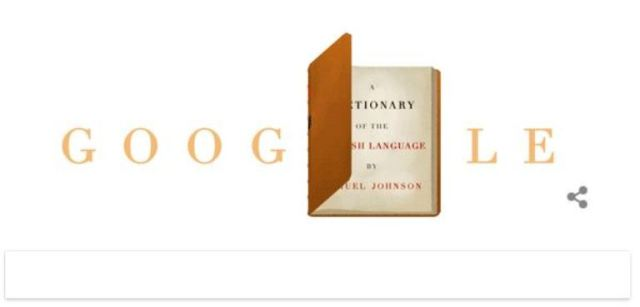 Samuel Johnson, Google Doodle, Dictionary