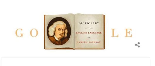 Google Doodle, Samuel Johnson, Dictionary of the English Language