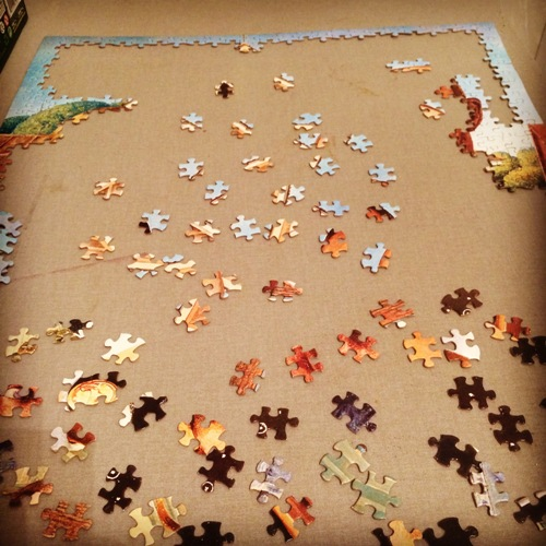 Puzzle, Puzzle pieces, guess the puzzle, culture, painting