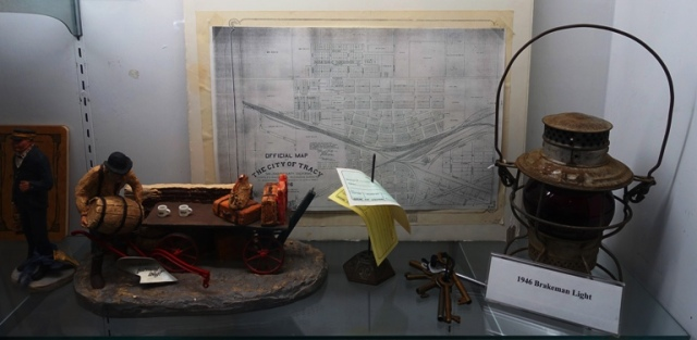 Tracy Museum, Railroad display, Railroad map