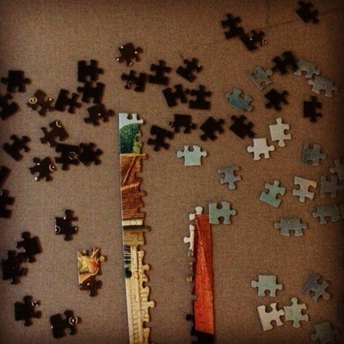 Puzzle, edge pieces, current puzzle, relaxation