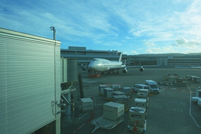 Last 747 flight, United Airlines, SFO to FRA