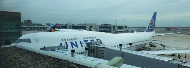United Airlines 747 last flight, frankfurt, SFO FRA