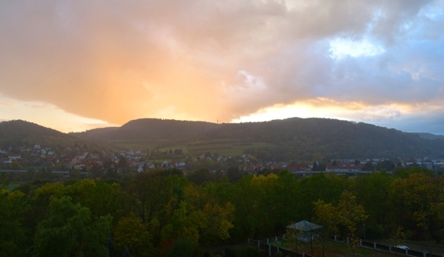 Autumn Sunset in Jena, Germany, sunset