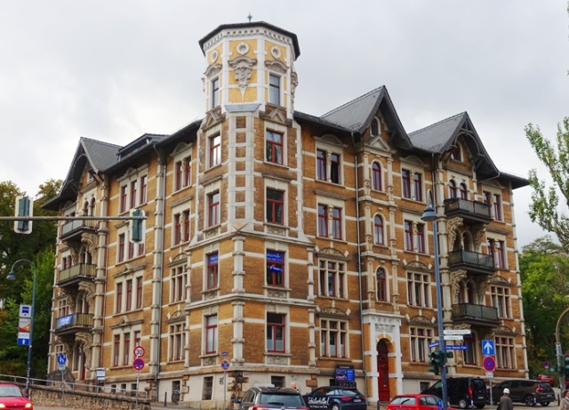 brick buildings, Jena, Germany