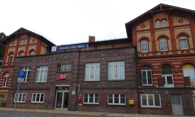 Jena West Bahnhof, Brick Buildings, Jena, Germany