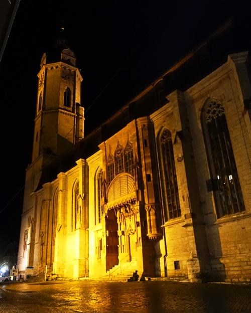 Jena, St. Michael, City Church, Jena at Night
