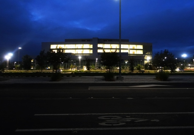 East County Hall of Justice, Pleasanton, California, Night Shot