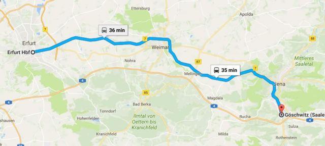 Erfurt, Jena, Germany, Regional Train, Regionalbahn