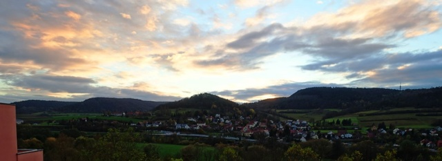 Sunset, Jena Germany, Saale River Valley, Colorful Clouds